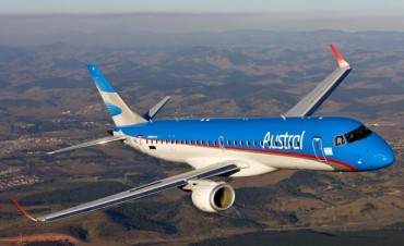 Este miércoles vuelven los vuelos de Aerolíneas entre Buenos Aires y Paraná