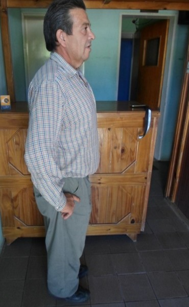 José Luis Gonzalez hoy, luego de la operación