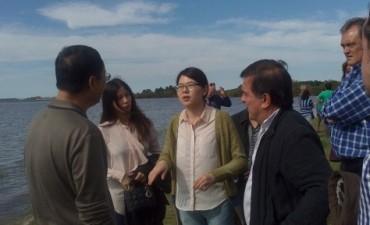 Los Chinos visitaron el lugar de los emplazamientos de los acueductos entrerrianos