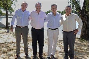 En Gualeguaychú, Macri y Sanz anunciaron un acuerdo para ir juntos en la PASO en Entre Ríos
