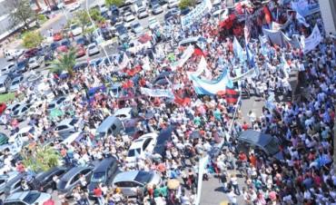 La movilización docente en Paraná