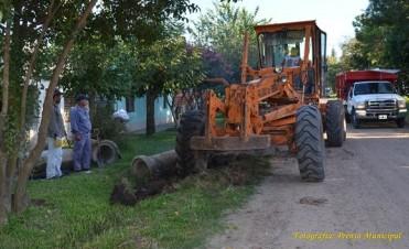 Los trabajos del municipio en distintos barrios y sectores de la ciudad