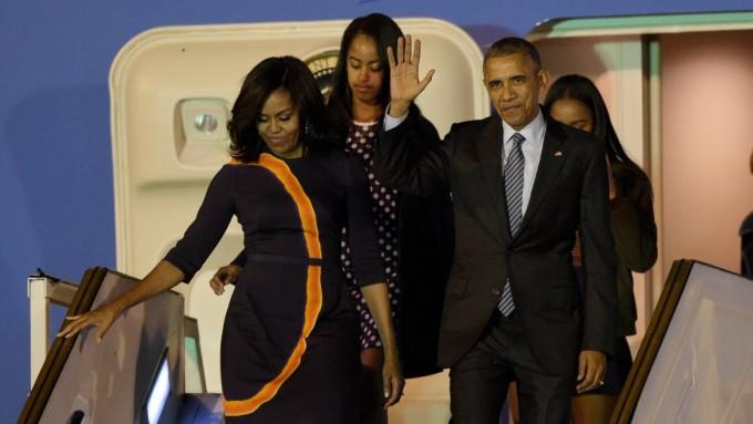Obama llegó a la Argentina