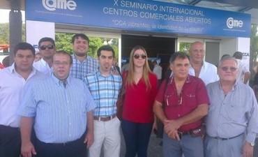Funcionarios participaron de un Seminario sobre centros comerciales a cielo abierto