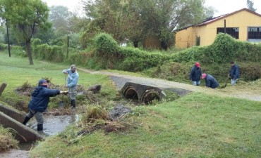 Limpian la cañada Los Tigres para un mejor escurrimiento del agua de lluvia