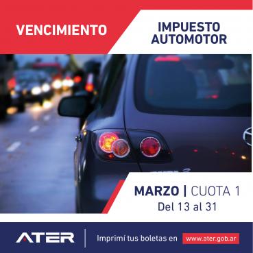 Comienza el vencimiento del Impuesto Automotor