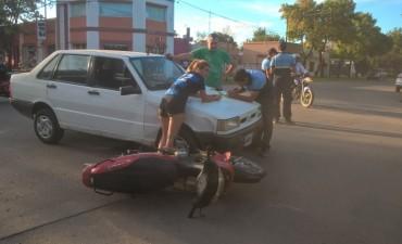 En pleno operativo , accidente en Belgrano y Donovan.