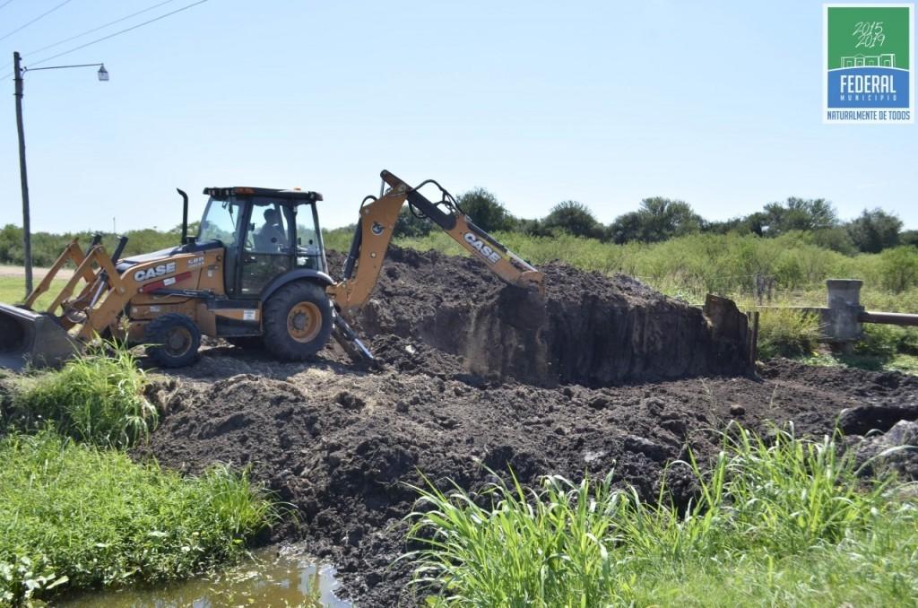 Ejecución de trabajos en diferentes sectores comprendidos por la Cañada