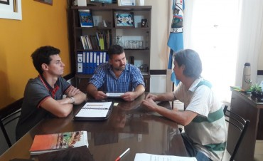 El Presidente Municipal recibió a funcionarios del Ministerio de Desarrollo Social de Entre Ríos