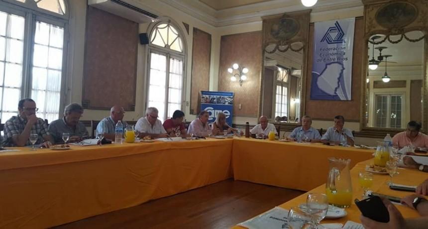 El Caef de Federal participo de reunión con la Federación Económica de Entre Ríos