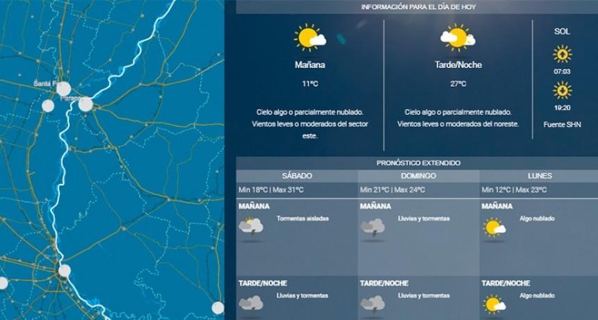 ¿Llegarán al fin las lluvias?: Pronostican hasta 80 milímetros en Entre Ríos