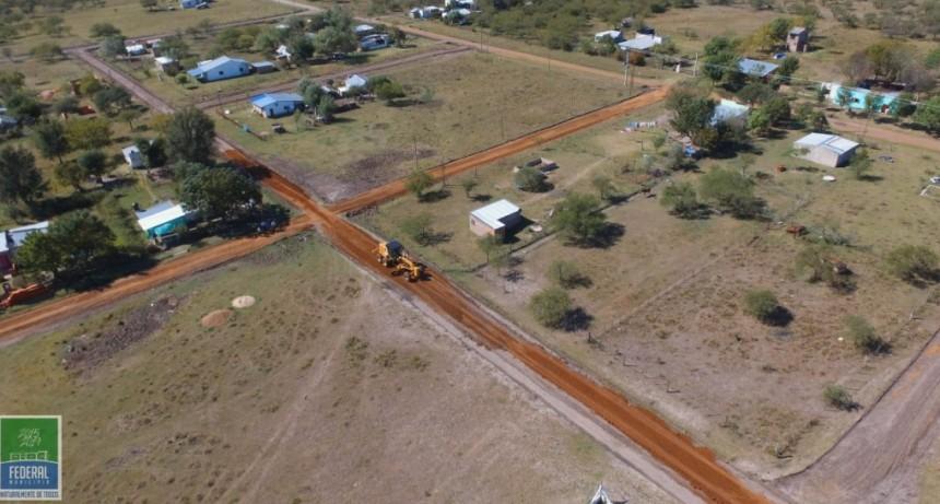 El Municipio lleva adelante un proyecto de enripiado en calles del Paraje Las Delicias
