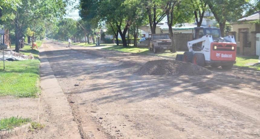 La Empresa Losi sigue con los trabajos en las calles de Federal