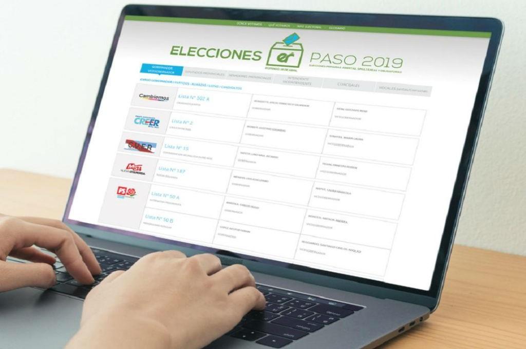 PASO 2019: una web oficial funciona con toda la información que el votante requiere