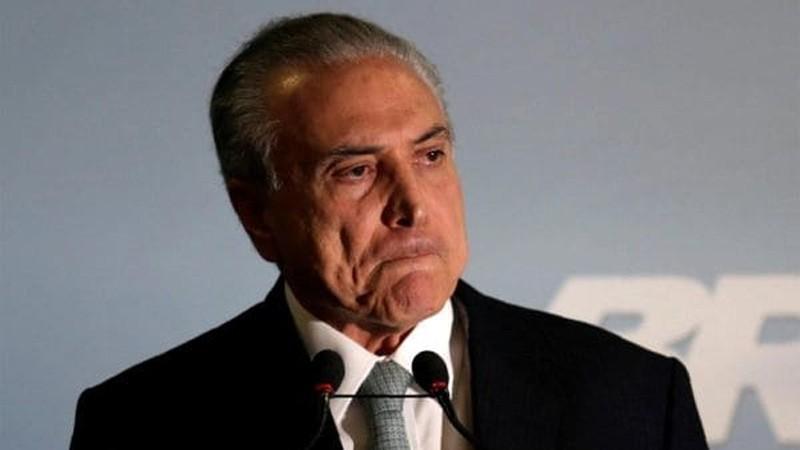 Detuvieron al ex presidente brasileño Michel Temer por el caso