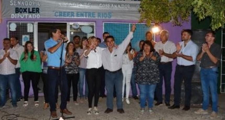 CREER ENTRE RÍOS: Sandra Fontana presentó los Pre candidatos que la acompañarán en la Lista 2