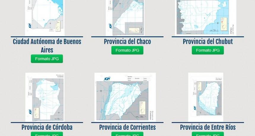 Vuelta a clases: El sitio para descargar gratis todos los mapas de Argentina