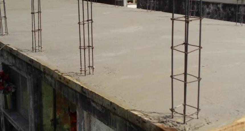 Se construyen nuevos nichos en el cementerio de C.Bernardi