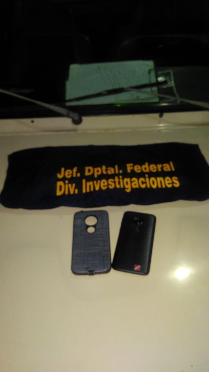 Secuestran teléfono que fuera robado