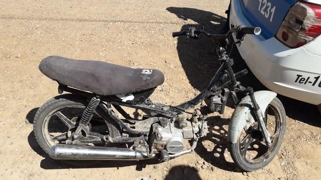Operativo y secuestro de motovehiculo