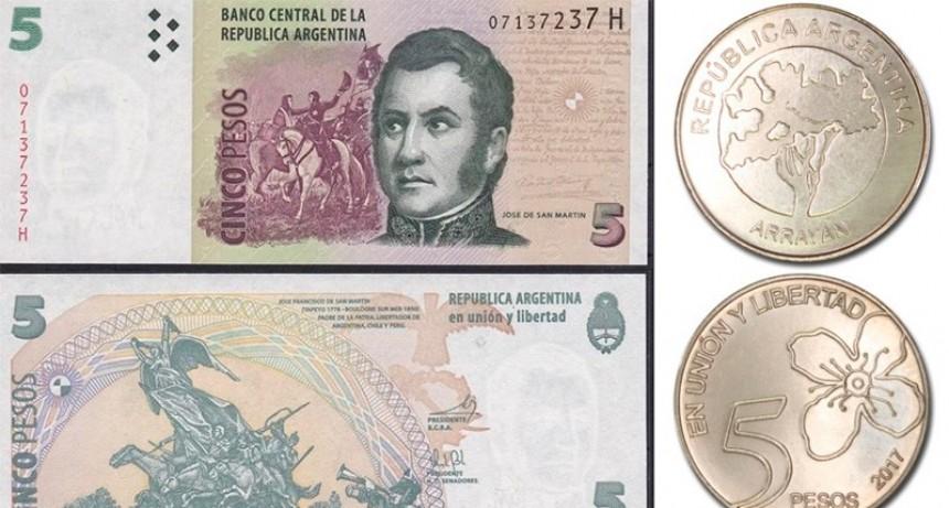 Qué hacer con los billetes de cinco pesos que salieron de circulación