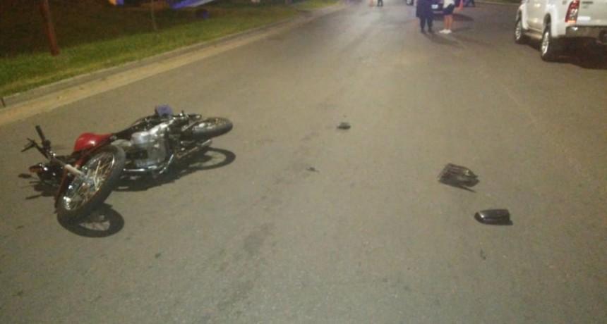 Accidente de tránsito en calles Colectora Almada y Donovan,