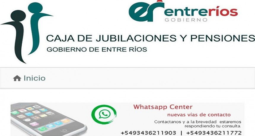 La Caja de Jubilaciones se comunica con sus beneficiarios mediante WhatsApp