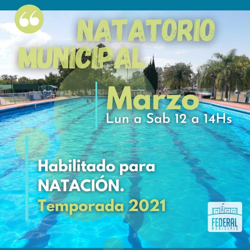 Natatorio Municipal para el mes de marzo