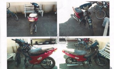 Recuperan partes de moto que  fue robada
