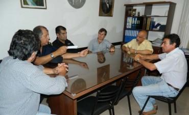 Felipe Torres en reunión con nuevas autoridades policiales