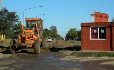 Continúa el mantenimiento vial y la higiene urbana en Federal.