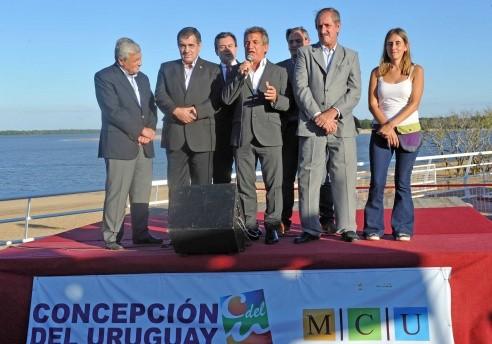 Cristina y Urribarri inauguraron la Isla del Puerto en Concepción del Uruguay