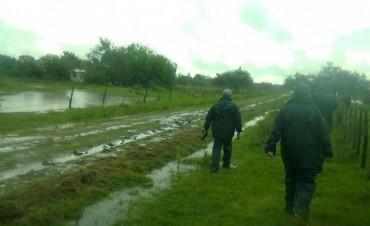 Concejal Lencina: En Las Delicias el agua llego en algunas casas hasta las ventanas