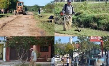 Intenso trabajo de limpieza y reparación de calles en Federal