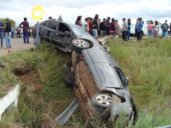 Nuevamente el cruce de la Ruta Nacional 127 y Cepeda es protagonista de un violento choque.