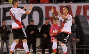 River se lució, goleó a Melgar y es el líder de su grupo en la Copa Libertadores