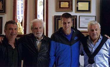 """Urribarri compartió un encuentro con el escritor e historiador """"Pacho"""" O'Donnell y los Intendentes Eduardo Lauritto y Enrique Cresto"""