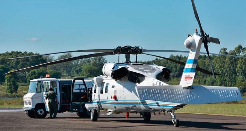 Llamativo aterrizaje en Concordia del helicóptero de la Presidencia