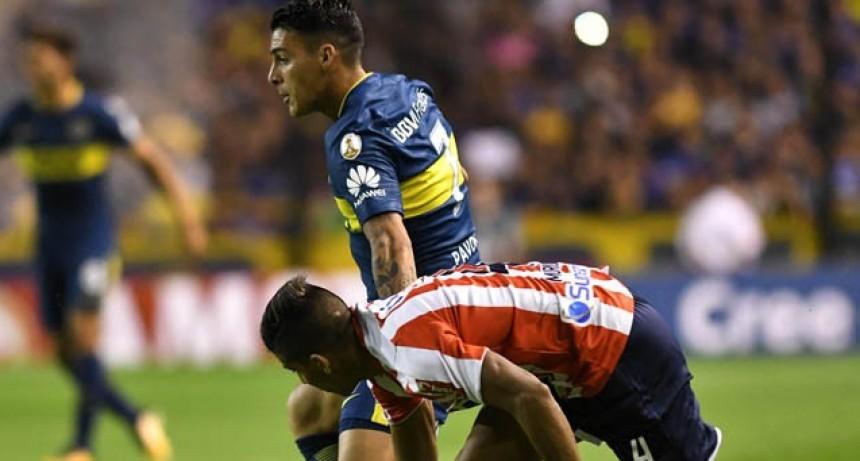 Boca logró un importante triunfo ante Junior de Colombia por la Copa Libertadores