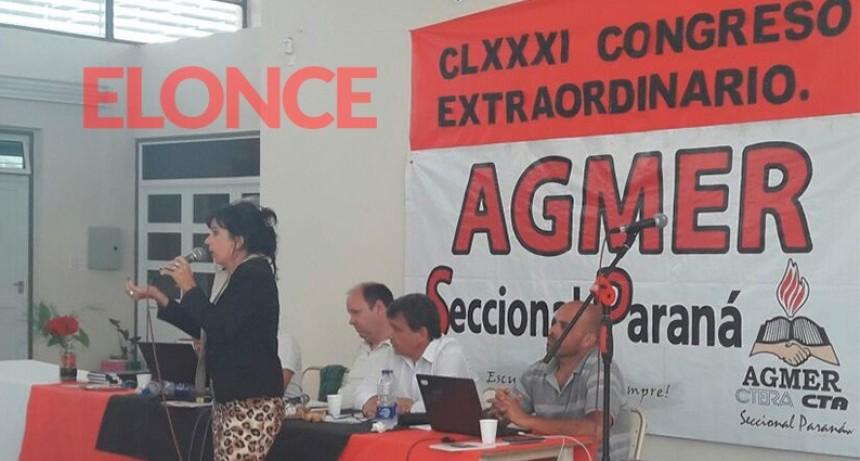 Agmer resolvió 48 horas de paro y una movilización provincial para el miércoles