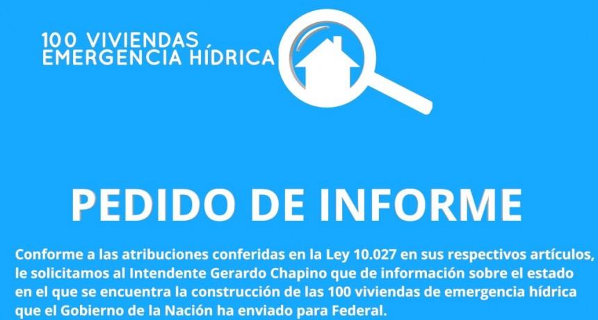 Pedido de Informe sobre avance de obras 100 viviendas