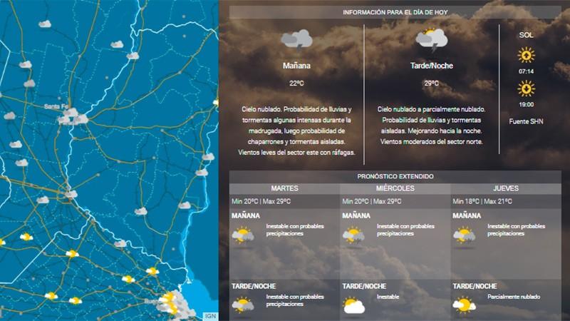 Ampliaron a gran parte de Entre Ríos la zona en alerta por lluvias y tormentas