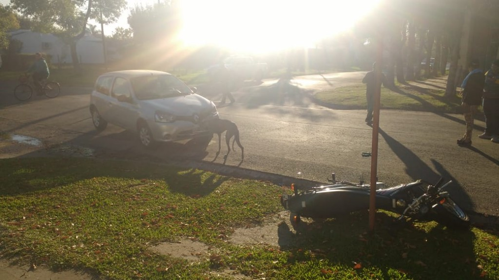 Accidente de transito en Mitre y Santa Rosa