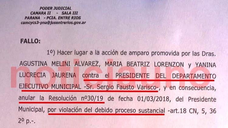 La Justicia anuló el decreto de Varisco que designaba Jueza de Faltas a una amiga personal militante de Cambiemos