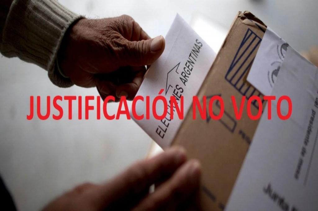 PASO 2019: Justificación de no emisión de voto