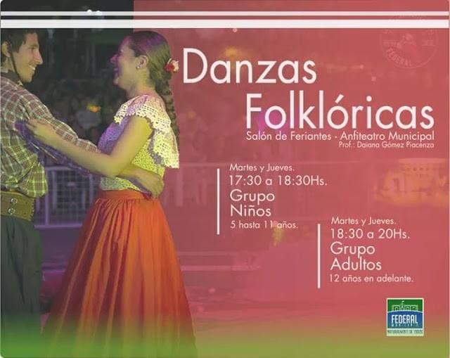 Comienzan las actividades de Danzas Folclóricas