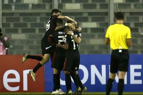 River le ganó 2-0 a Palestino en Chile y se metió en octavos de final de la Copa Libertadores
