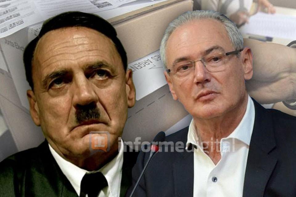 La parodia de Benedetti y Hitler por la derrota en Entre Ríos