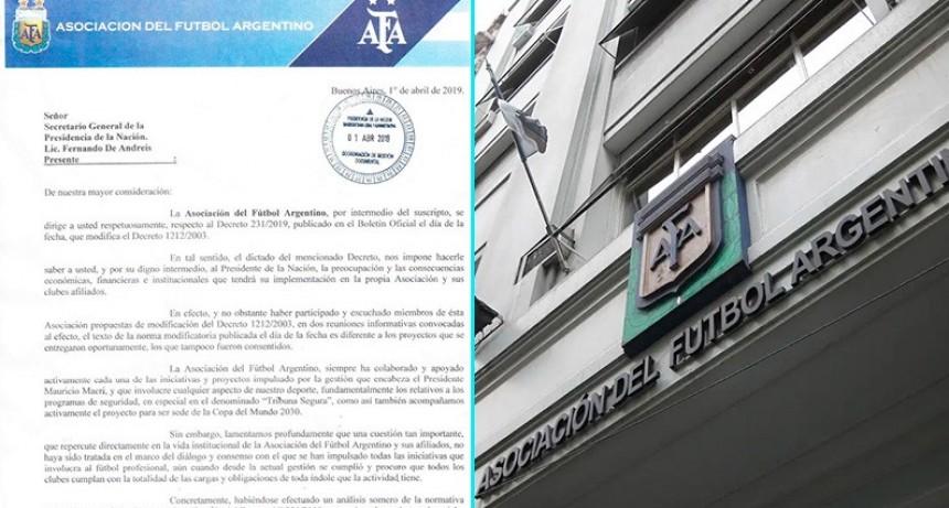 Dura carta de la AFA contra el Gobierno por modificaciones impositivas