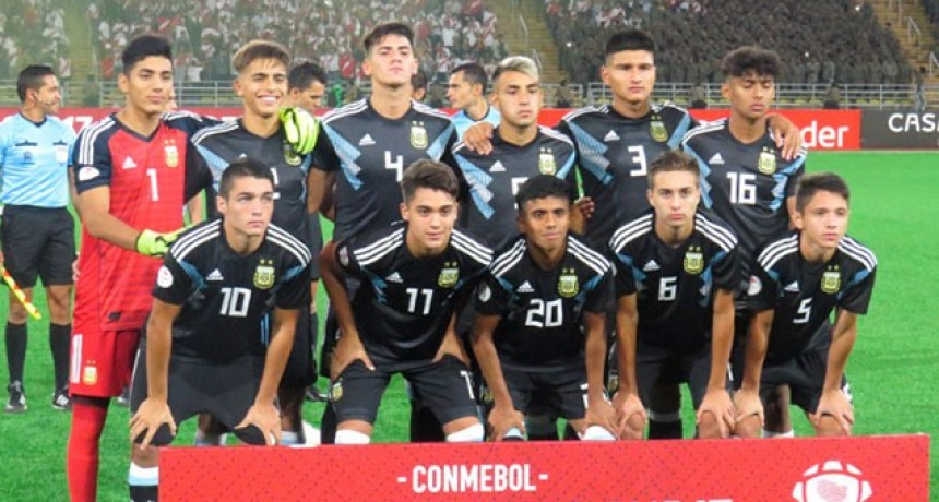 Sub-17: Argentina igualó ante Perú en su debut en el hexagonal final